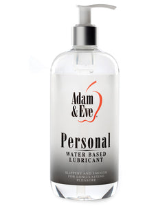 Adam & Eve Personal Water Based Lube - 16 Oz