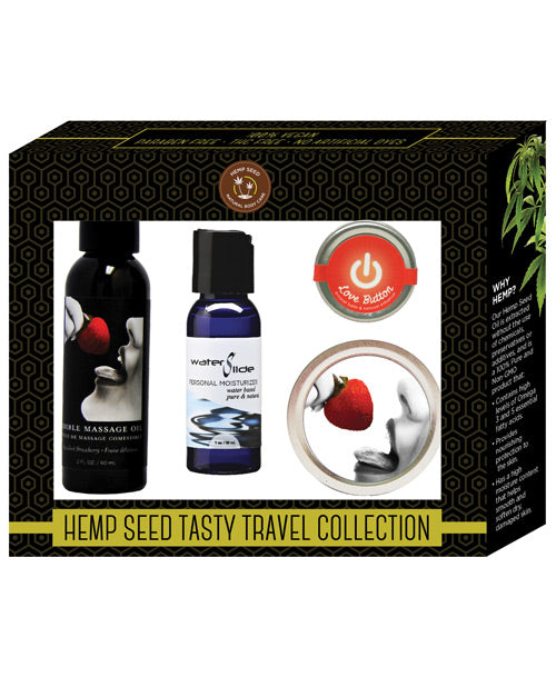 Earthly Body Hemp Seed Tasty Travel Collection - Strawberry