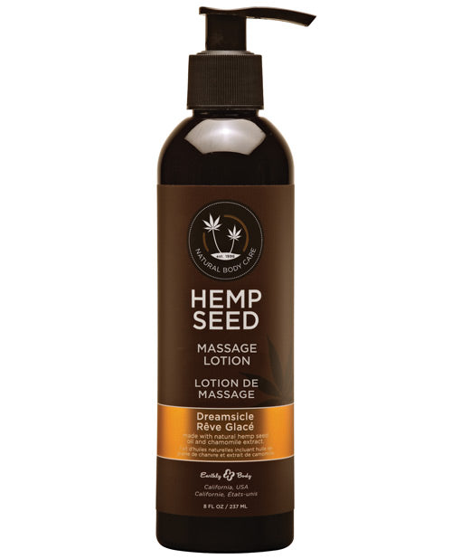 Earthly Body Hemp Seed Massage Lotion - 8 Oz Dreamsicle