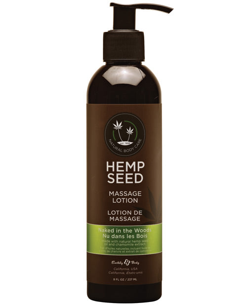 Earthly Body Hemp Seed Massage Lotion - 8 Oz Naked In The Woods