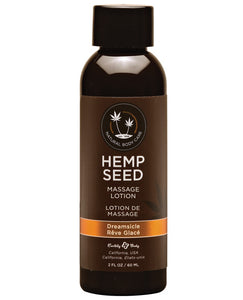 Earthly Body Hemp Seed Massage Lotion - 2 Oz Dreamsicle