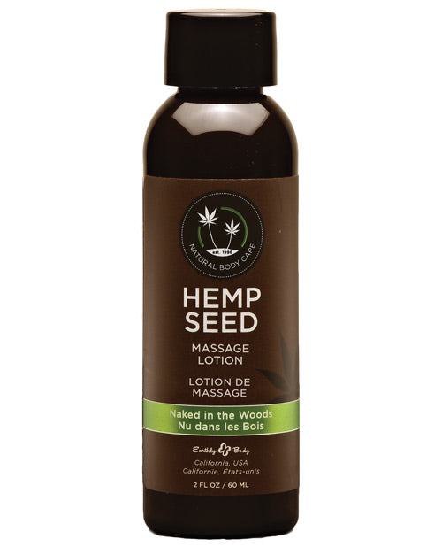 Earthly Body Hemp Seed Massage Lotion - 2 Oz Naked In The Woods
