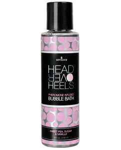 Sensuva Head Over Heels Bubble Bath - 8 Oz Vanilla-sugar-sweet Pea