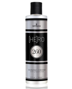Sensuva Hero 260 Pheromone Infused Shave Cream For Him - 8 Oz