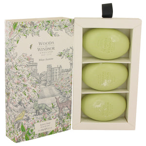 White Jasmine by Woods of Windsor Three 2.1 oz Luxury Soaps 2.1 oz for Women
