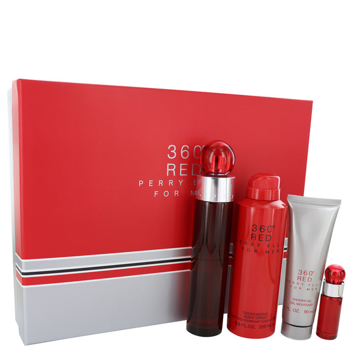 Perry Ellis 360 Red by Perry Ellis Gift Set -- for Men