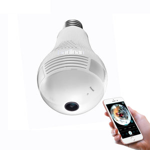 WiFi Camera Light Bulb 1080P , 360 Degree Panoramic.