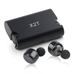 Portable True Wireless Earbuds TWS X2T Mini Headset Bluetooth 4.2 Earphone 1500mAH Charger Box for iPhone and androids
