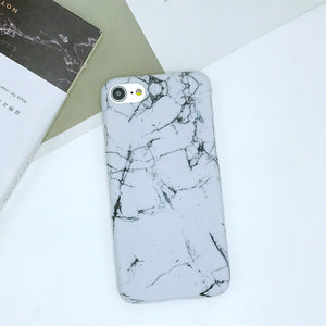 Fashion Marble IPhone Cases For iPhone 8 X 7 7Plus 5 5G 5S SE 6 S  6S 6Plus coque Slim Hard Plastic Stone Back Cover case fundas