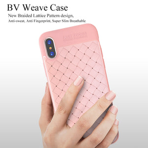 TOTU BV Weave Grid Case For iPhone X IX Coque Luxury Ultra Thin Slim Back Cover Case For iPhone 10 Soft TPU Capinhas Fundas