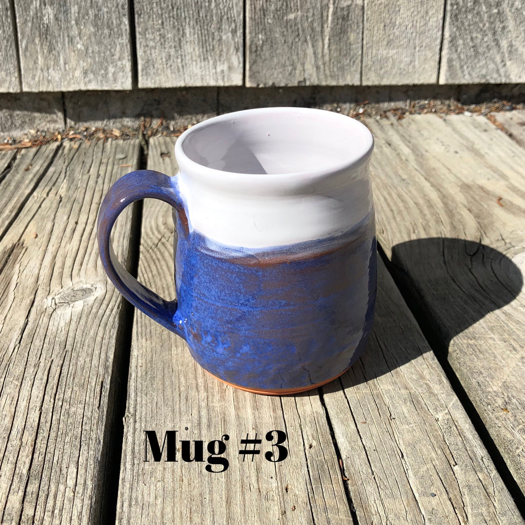 Blue and White Mugs