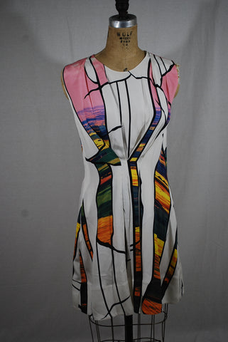 Colorful Silk Dress Size 6