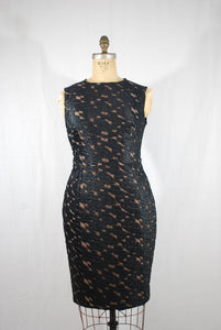 Black Lace Shift Dress Size 44