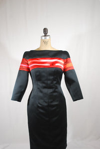 Silk dress with Red Top Size 6