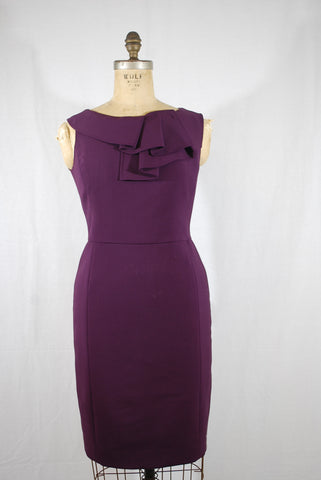 Purple Shift Dress with Ruffle Size 10