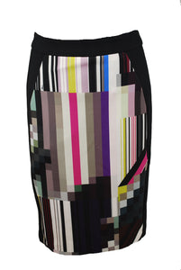 Color Print line skirt Size 6