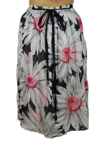 Silk Floral Wrap Skirt Size 40