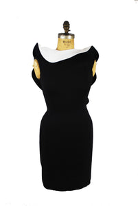 Lanvin Scuba Drape Backless Dress Size 38