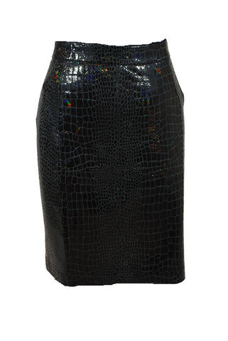 Shiny Straight Skirt Size 0 XS