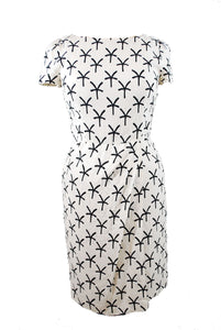 Black and White Print Dress Size 44