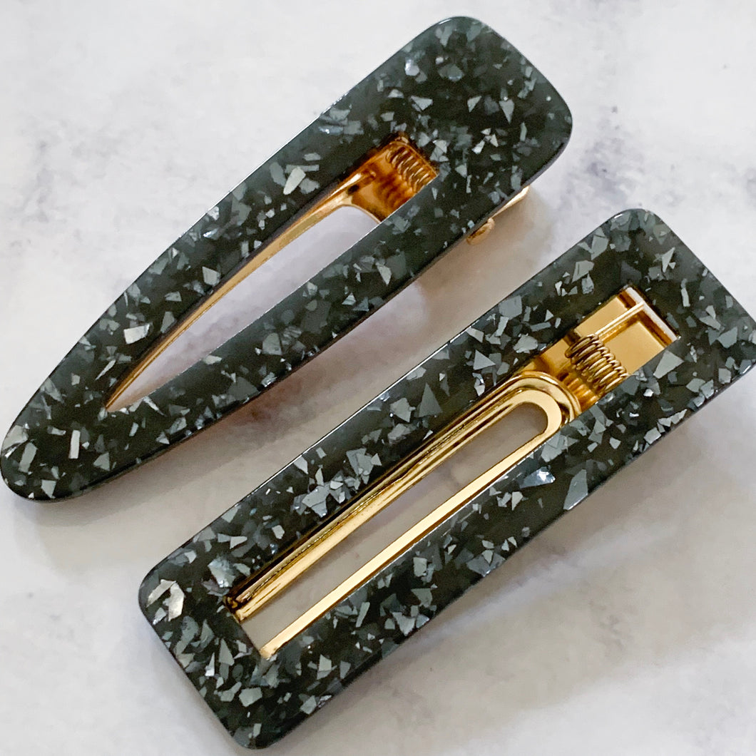 Large Luxe Leopard Hair clips