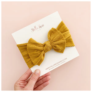 Buttercup ~ Top Knot Headband