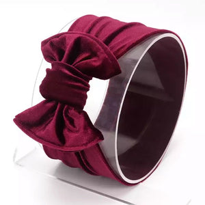 Wine Velvet ~ Bow Knot Headband