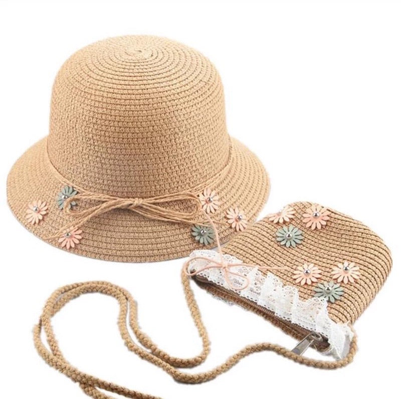 Daisy Hat & Purse