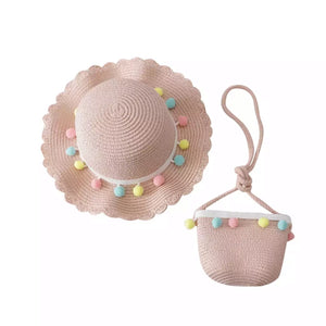 Summer Straw Hat & Bag set