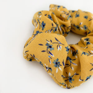 BUTTERSCOTCH FLORAL SCRUNCHIE