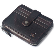 Classic Leather Travel Wallet with Coin Stash