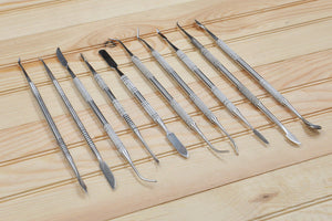 10pc Stainless Steel Clay and Pottery  Sculpture Tools