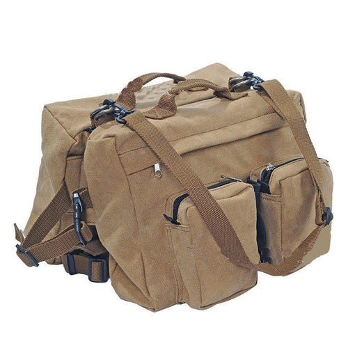 Canvas Travel Saddle Bag for Medium to Large Dogs
