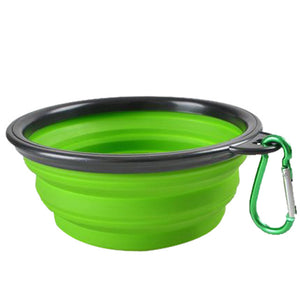 Portable Folding Silicone Pet Water or Food Bowl