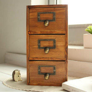 Three Drawer Wooden Box