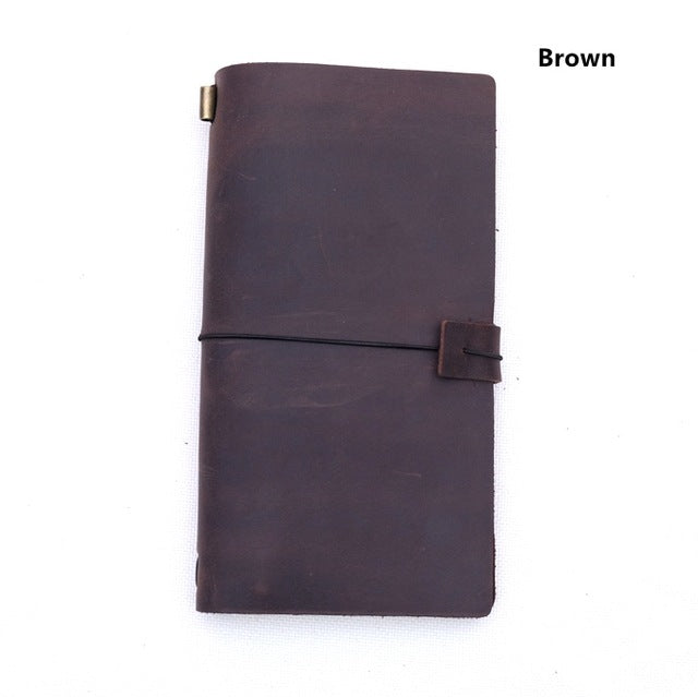 Real Leather Travel Notebook