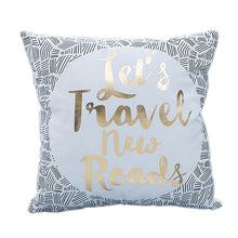 Global Map Travel Pillow Case