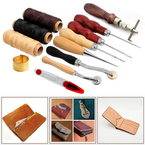 14 pcs Leather Craft Tool Kit