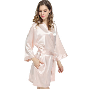 Elegant Solid Satin Robes
