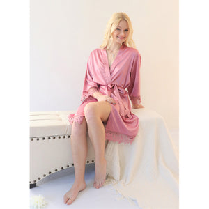 Rose Lauren Lace Satin Robe