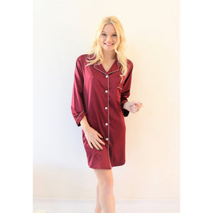 Sleep Shirt | Burgundy