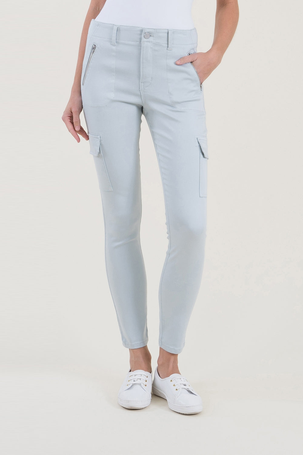 Pearl Blue Cargo Pant