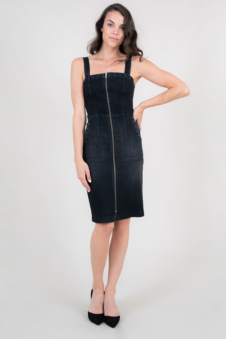 Bethany Zippper Front Dress - level99jeans