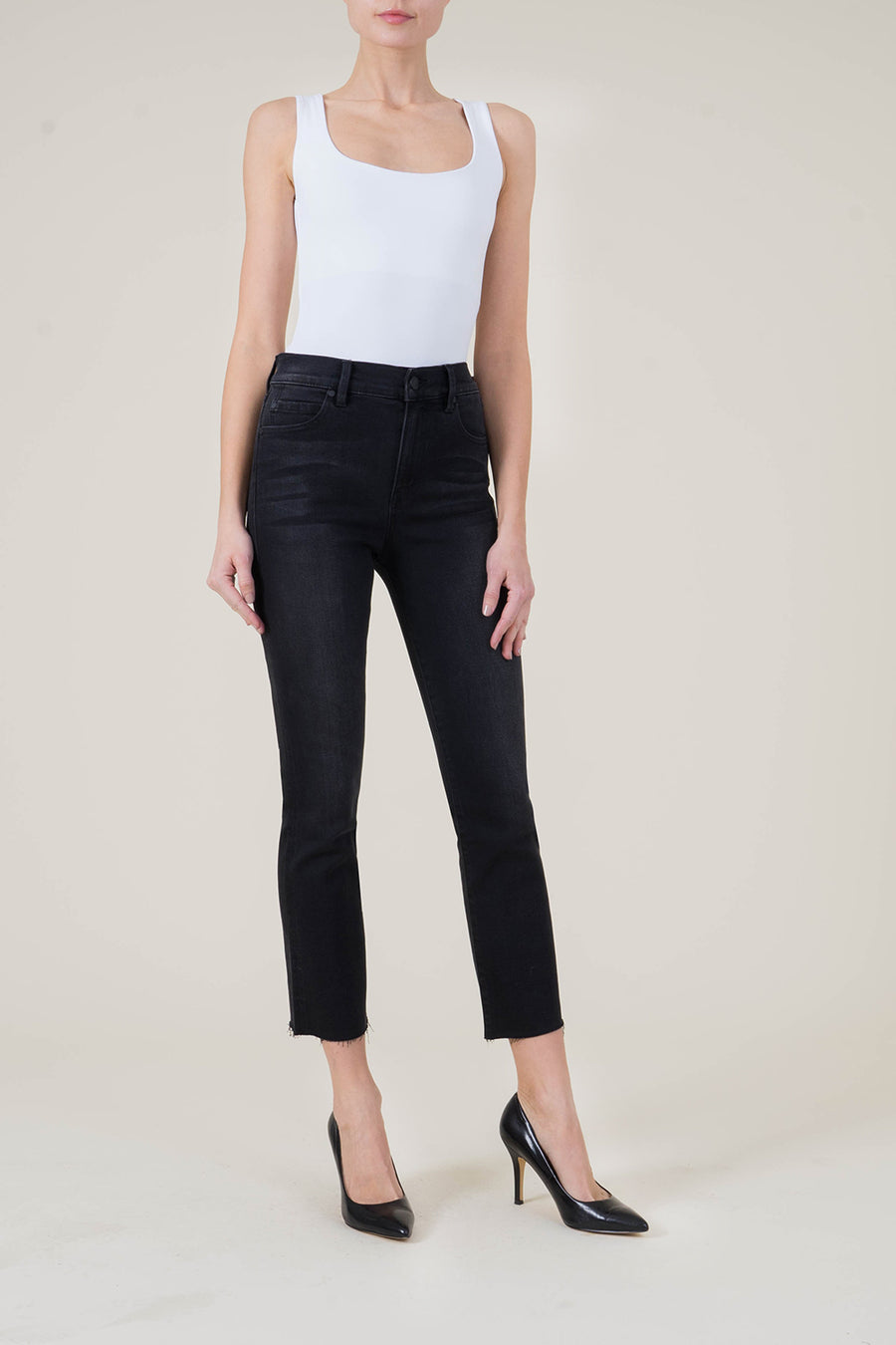 High Rise Straight Crop - level99jeans
