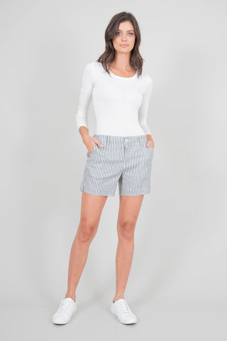 Andie Nautical Stripe Trouser Short