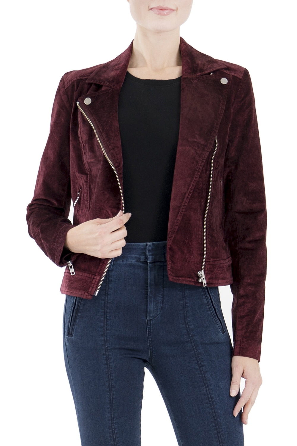Cranberry Suede Jacket