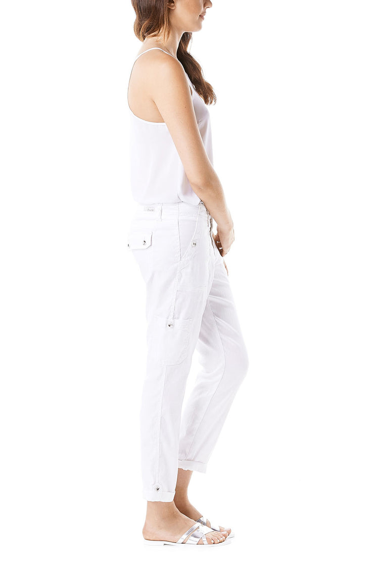 Optic White Relaxed Lily Cargo