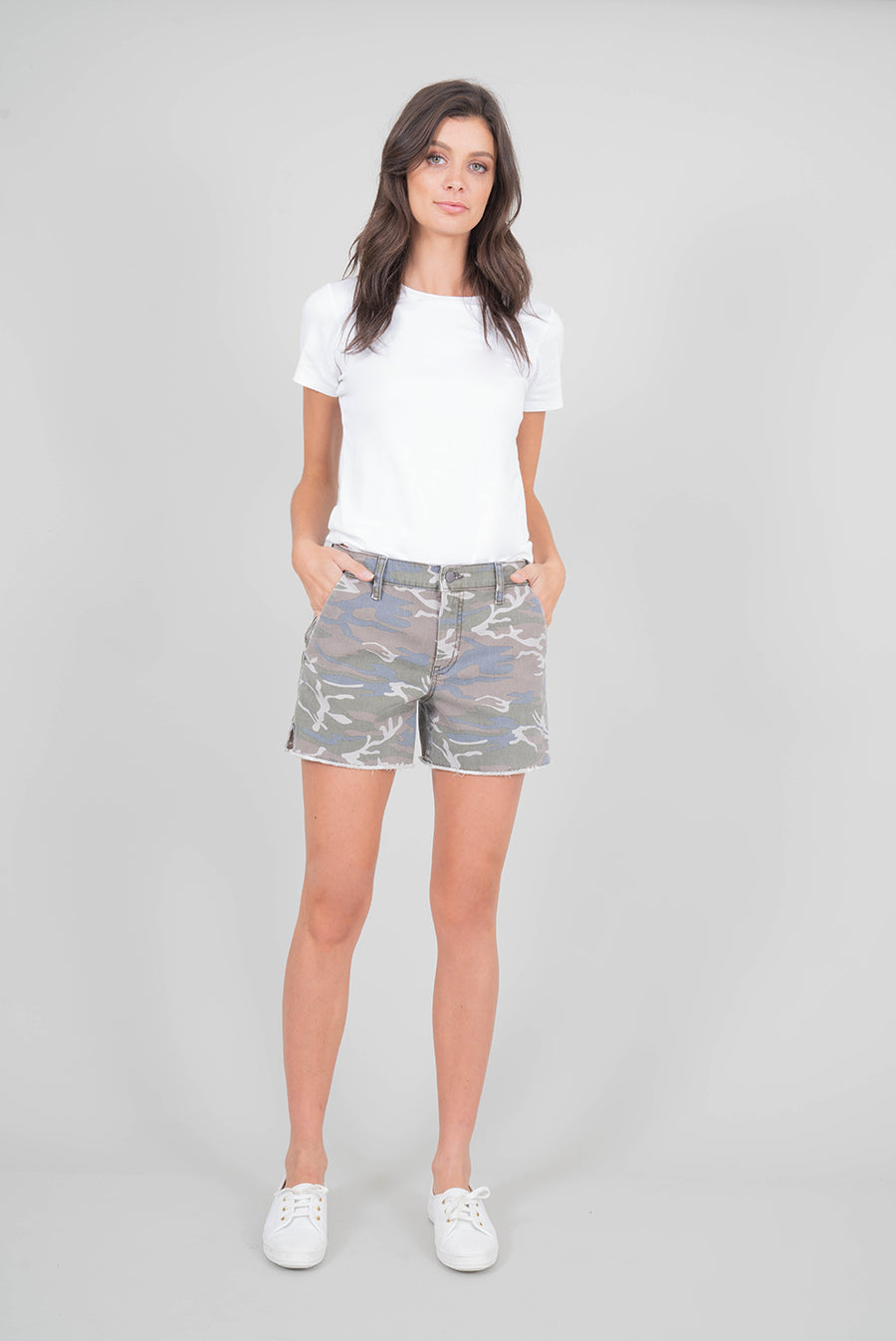 June Camo Short - level99jeans