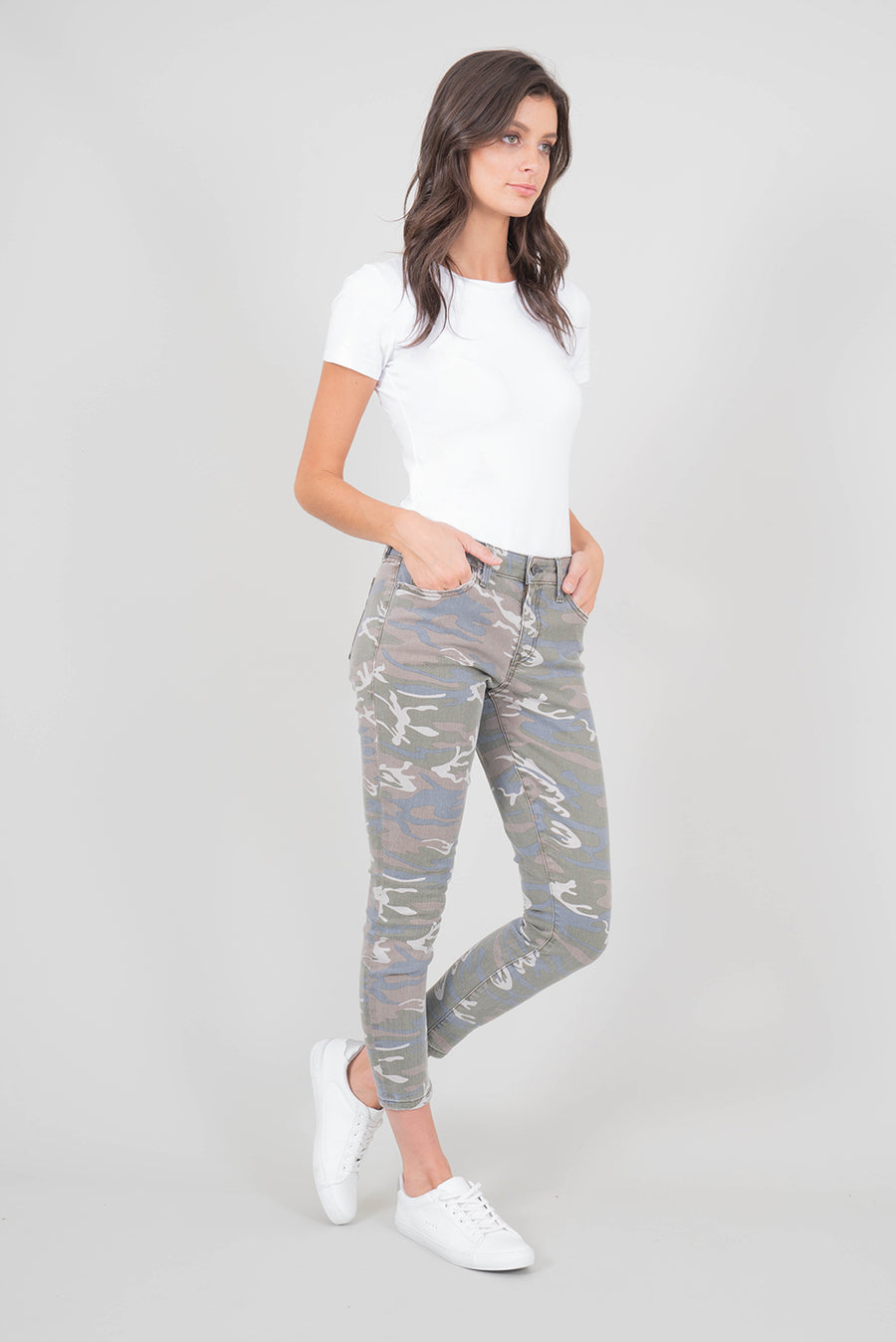 Madison Midrise Camo Skinny - level99jeans
