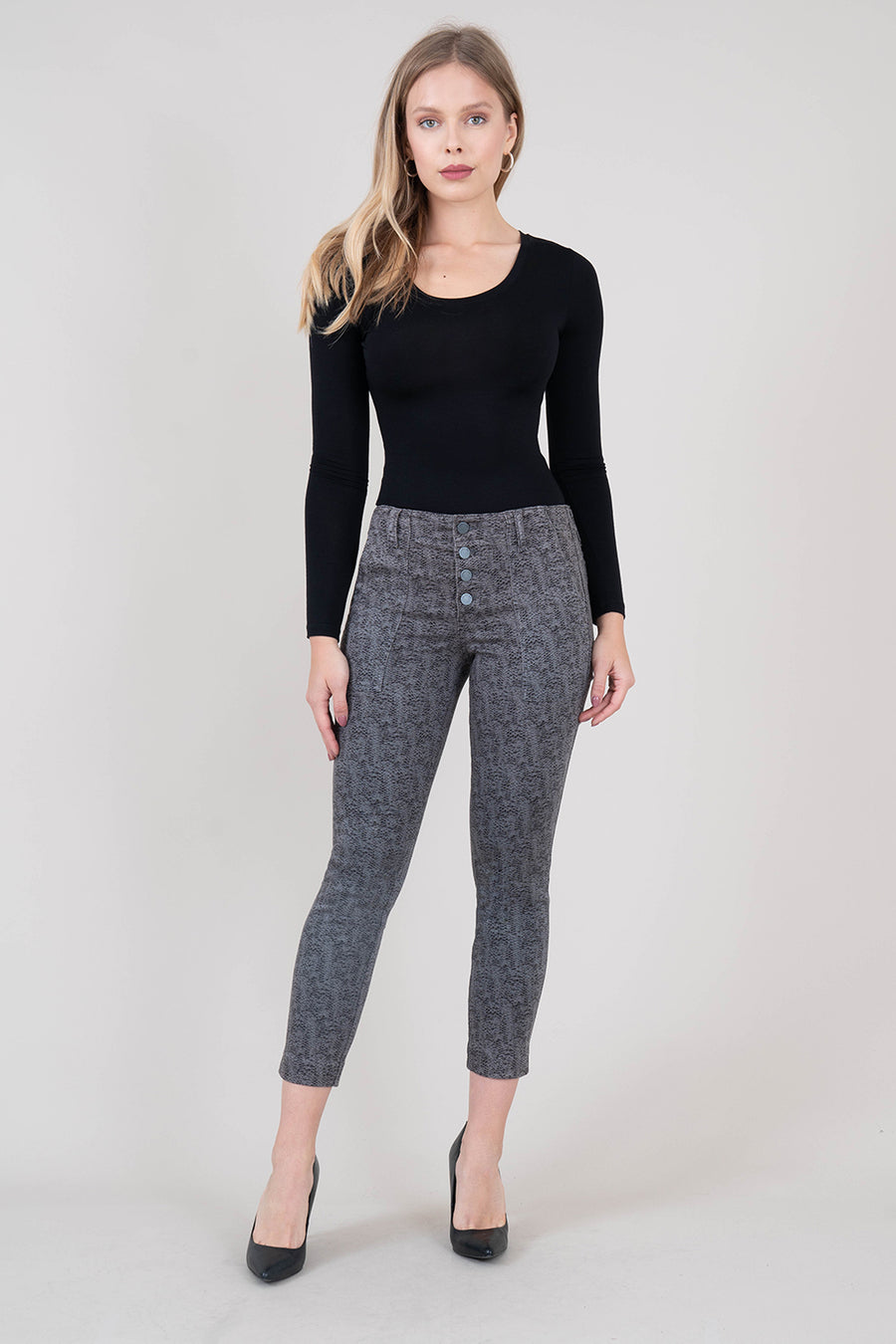 Aiden Exposed Button Pant - level99jeans